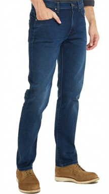 WRANGLER ARIZONA JEANS  STRETCH BLÅ (SOFT LUXE)