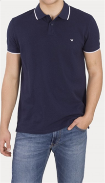 WRANGLER POLO SHIRTS  NAVY  (FÅ STR.)